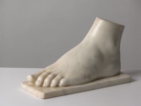 The left foot of Mary Ann Viney-Evans, 1st Viscountess Beaconsfield (1792-1872)