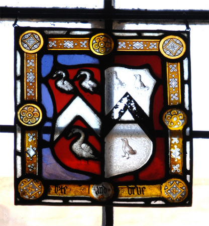Coat of Arms of Thomas Lyte (1470-1523) and his wife Margaret Drue