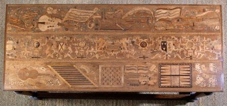 Hardwick Hall's so-called 'Aeglentyne' [or Eglantine] Table - circa 1568