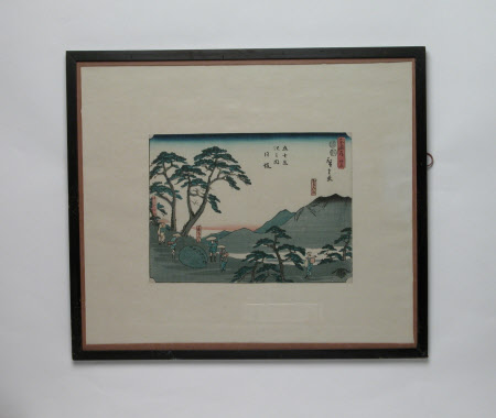 One of the Fifty-three Stations of the Tokaido Road - The Reisho Series