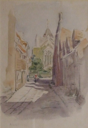 View of West Street to the Church, Rye