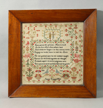 Sampler, 'Jesus permits thy gracious name to stand....'
