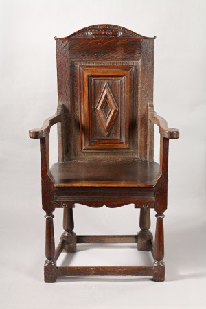 Panel-back armchair