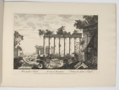 Ruins of Balbec with Most perfect Temple and Portico of the Great Temple