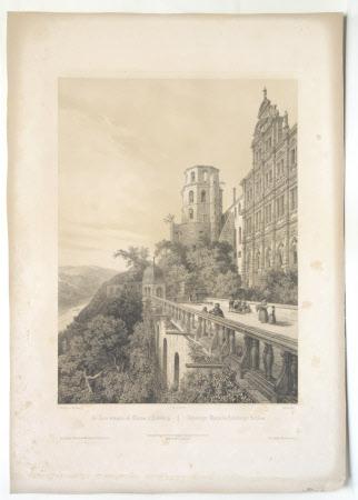 Le tour Octogone au Chateau d'Heidelberg (after Charles Claude Bachelier)