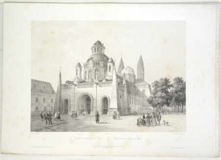 Facade of the Cathedral, Speier (after Charles Claude Bachelier)