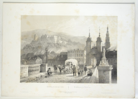View from the Bridge, Heidelberg, Germany (after Jean-Baptiste Chapuy)