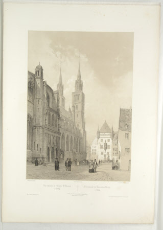 View of the Church of St. Laurent, Nuremberg (after Jean Baptiste Chapuy)