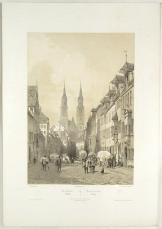 Karolinenstrasse, Nuremberg (after Jean Baptiste Chapuy)