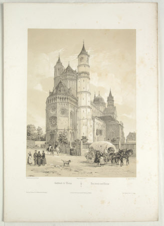 Worms Cathedral, (after Jean Baptiste Chapuy)