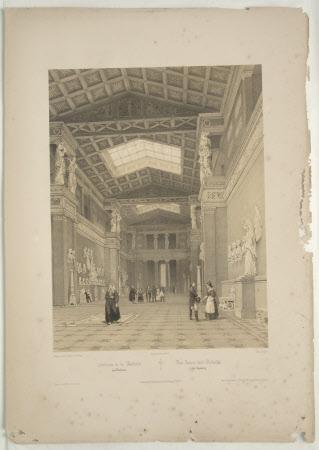 Interior of Walhalla, Donaustauf (after Jean Baptiste Chapuy)