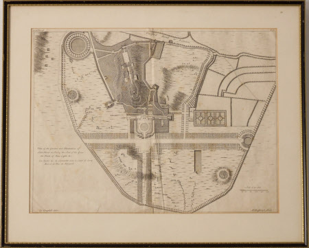 Plan of the Garden and Plantation of Clare Mont in Surry, the Seat of his Grace the Duke of New ...