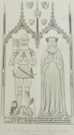 Sir Simon De Felbrigg D 1351 And His Wife Margaret
