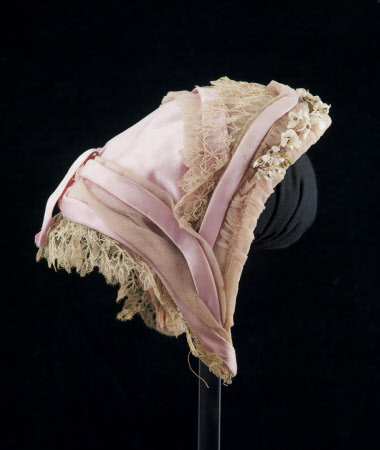 Bonnet, 1865-1870, from the Snowshill Wade Costume Collection