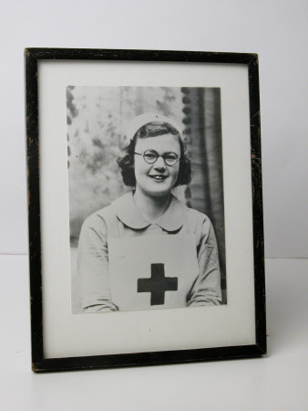 Joan Lander (1916 - 1997) in her Red Cross Uniform