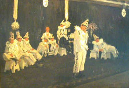 Pierrot Clowns on Stage