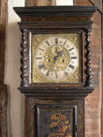 Longcase calendar clock