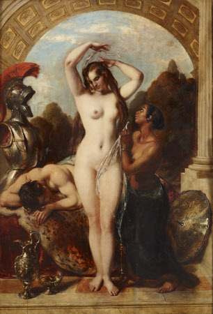 Mars, Venus and an Attendant derobing her Mistress for the Bath