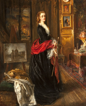 Self-portrait in her Painting Room at Baddesley Clinton