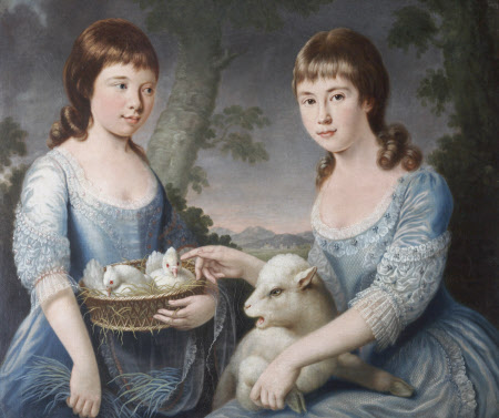 Elizabeth Chichester, later Mrs George Blount (1771-1820) and Mary Macdonald Chichester, later Lady ...