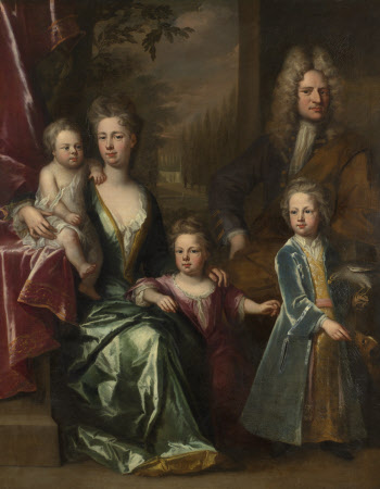 The Dryden Family: Edward Dryden (d.1717), his Wife, Elizabeth Allen and their Children, John ...