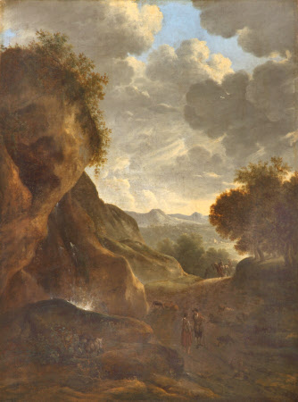 A Landscape with Travellers on a Rocky Road
