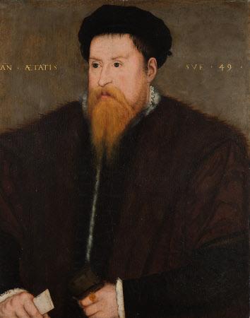 Sir Nicholas Throckmorton (1515-1571), aged 49