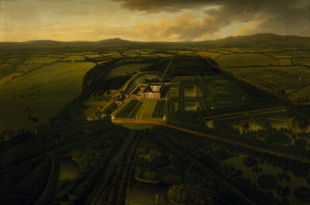 A Bird's-eye View of Dunham Massey from the South