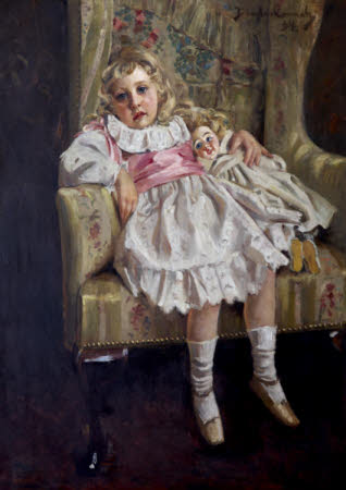 'Lost in Reverie' - Agatha Mary Clarissa Miller, later Agatha Christie (1890 - 1976), aged 4