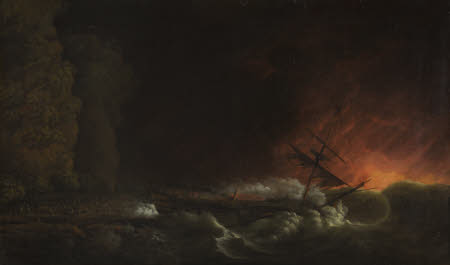 The Shipwreck of the Phoenix at Night on the Coast of Cuba, 4 October 1780