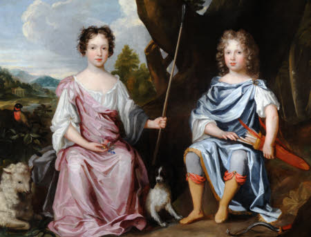 Edward Graham, later 2nd Viscount Preston (c.1679/81-1710) and his Sister Catherine, later Lady ...