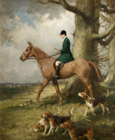 Miss Esmé Jenner (1896/7 -1932), as Master of the Sparkford Vale Harriers