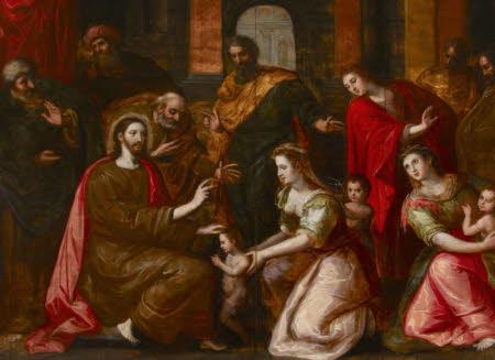 Christ blessing the Little Children ('Sinite Parvulos')