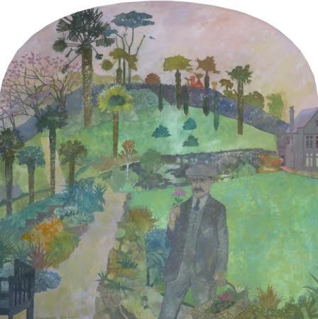 Otto Overbeck (c.1860 - 1937) in his Garden