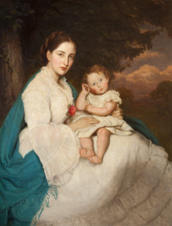 Caroline Philips, Lady Trevelyan (1849-1928) with her Son Charles, later Sir Charles Philips ...