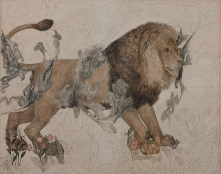 The Lion (for 'The Forest', a tapestry by Morris & Co.)