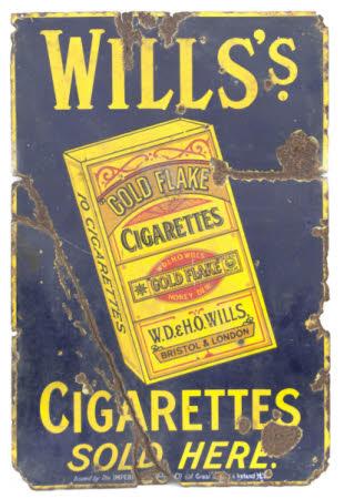 Wills golden flake cigarettes