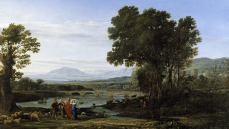 A River Landscape with Jacob and Laban and his Daughters