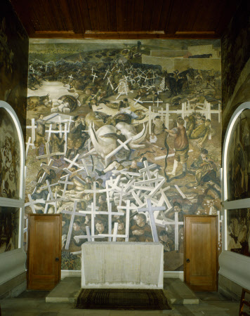 THE RESURRECTION OF THE SOLDIERS by Stanley Spencer at Sandham Memorial Chapel, Hampshire
