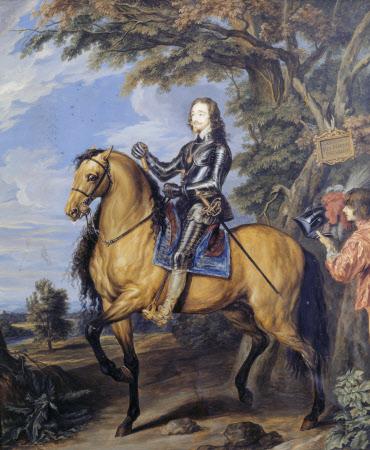 King Charles I (1600-1649) on horseback (after Sir Anthony Van Dyck)