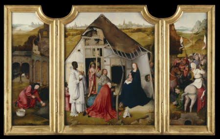 The Adoration of the Magi (Triptych) and Christ before Pilate (Verso)