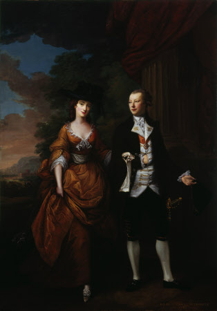Nathaniel Curzon, 1st Baron Scarsdale (1726-1804) and his Wife Lady Caroline Colyear, Lady ...