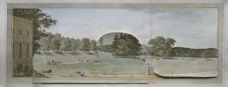 View from the north of the house at Wimpole, Cambridgeshire, Plate I from the Wimpole Red Book