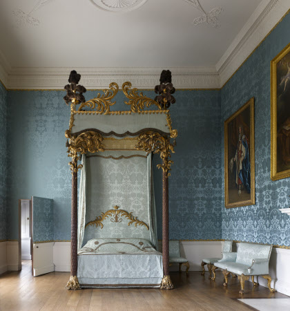 Bedroom in the State Apartments at Kedleston Hall, Derbyshire