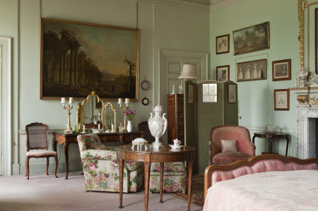 Mrs Bambridge's Bedroom at Wimpole Hall, Cambridgeshire.